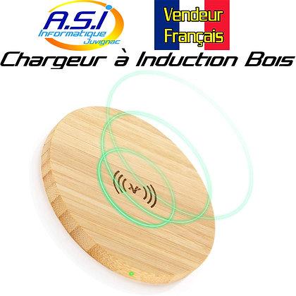 Chargeur sans Fil Station accueil à Induction Smartphone téléphone bois Bambou
