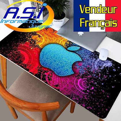 Tapis de souris Gaming Pomme XXL Grand Format multicolore jeu gamer VENDEUR FR