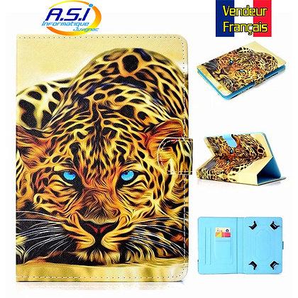 """Coque Etui universel Housse universelle tablette 10"""" pouces Leopard / Tigre"""