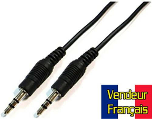 Câble Audio Mini-jack Mâle à male Stéréo 2m mètres VENDEUR FRANCAIS