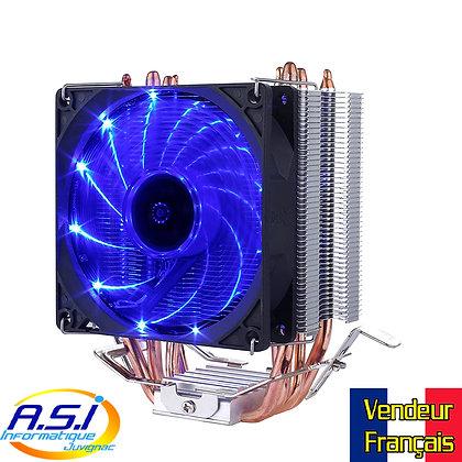 Ventirad / Ventilateur CPU Processeur 92mm Intel et AMD Bleu