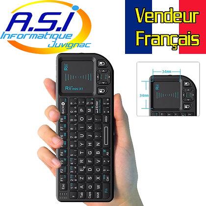 Mini clavier + PAD sans fil pour Smart TV, Android TV Raspberry Kodi  Ordinateur