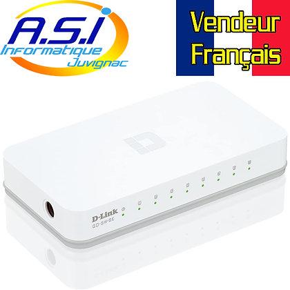 Switch de bureau 8 ports D-Link RJ45 10/100 Mbps