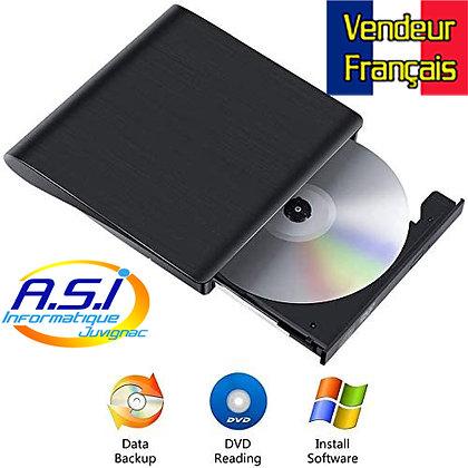 Graveur / Lecteur CD DVD Externe USB 3.0 Portable Mince MAC /PC VENDEUR FRANÇAIS