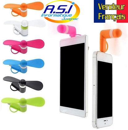 Mini Ventilateur téléphone Smartphone tablette batterie de secours