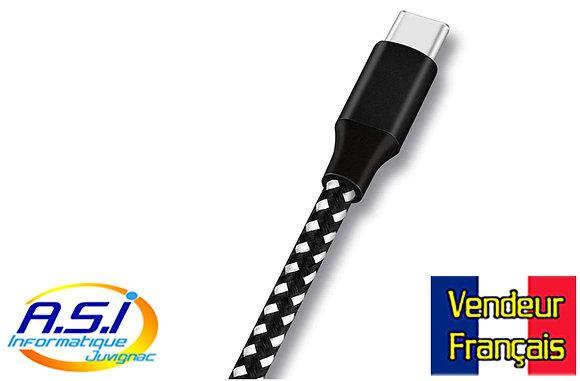 Câble USB vers USB-C 3m téléphone / smartphone / ordinateur VENDEUR FRANÇAIS