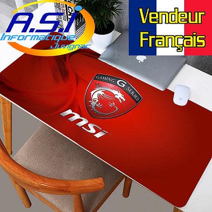 Grand Tapis de souris Gamer Jeu ordinateur MSI Rouge G Gaming XL VENDEUR FRA