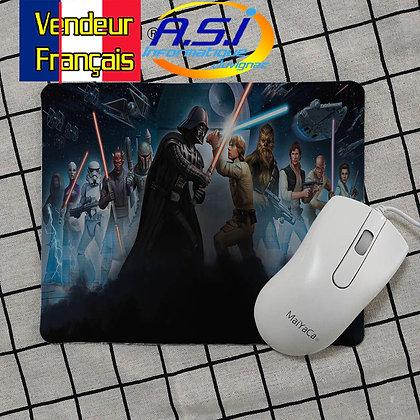 Tapis de souris Gaming gamer Star Wars Jedi Luc Slywalker Dark Vador VENDEUR FRA