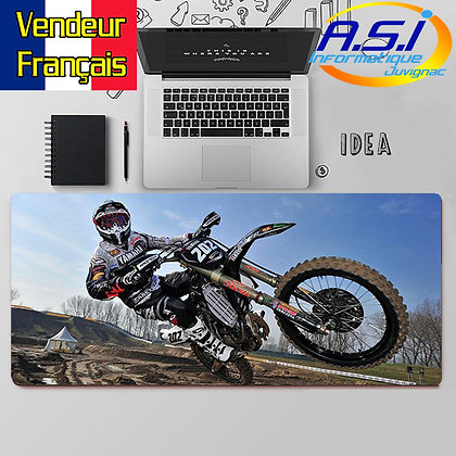 Grand Tapis de souris Motard bike bikers MotoCross moto XXL