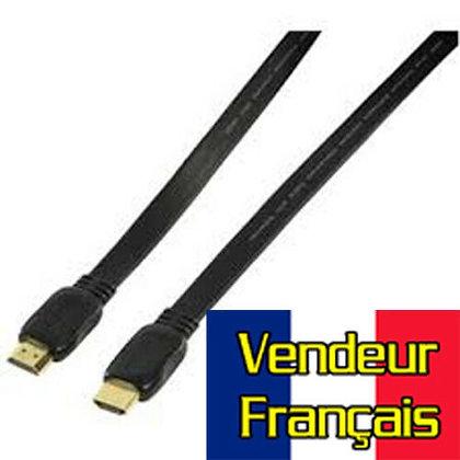 Cable HDMI 2m plat Vendeur FRANÇAIS