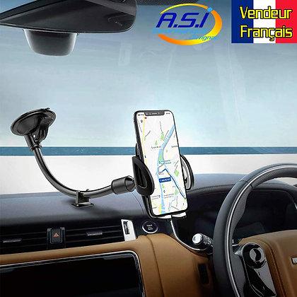 Support Auto Téléphone portable  fixation Ventouse Smartphone Pare brise voiture