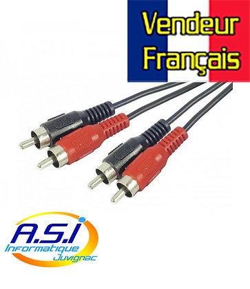 Câble RCA cinch mâle mâle 10m VENDEUR FRANÇAIS