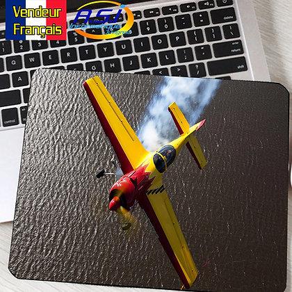 Tapis de souris Ordinateur Avion Aviation Bimoteur Voltige