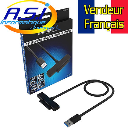 Adaptateur USB 3.0 Sata pour disque dur SSD et HDD 2.5 pouces