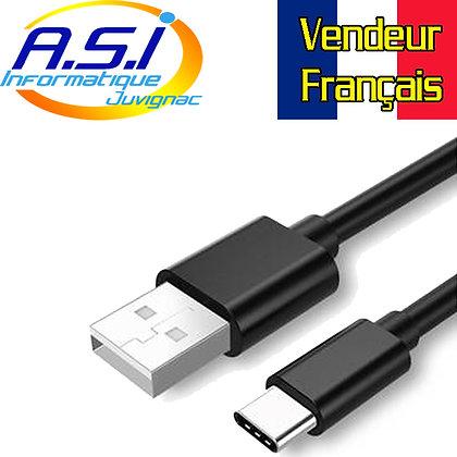 Cable Smartphone Téléphone Tablette Startech USB vers USB-C 2m noir