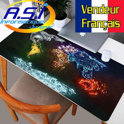 Grand Tapis de souris Gaming carte Map monde Gamer multicolore XL VENDEUR FR