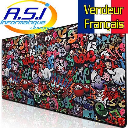 Grand Tapis de souris Gaming tag graph street art XL VENDEUR FR