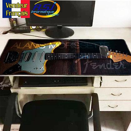 Grand Tapis de souris Gaming gamer XL Musicien Guitare Fender Musique