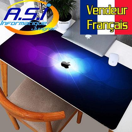Tapis de souris Gaming XL Grand Format noir violet bleu gamer VENDEUR FRANCAIS