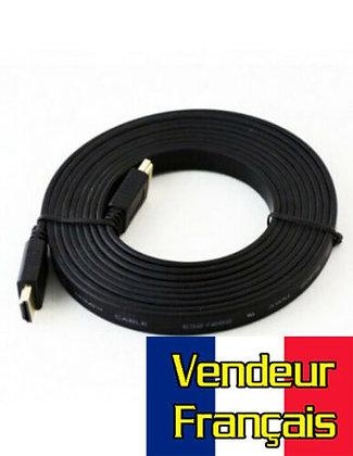 Cable HDMI 1Om plat Vendeur FRANÇAIS