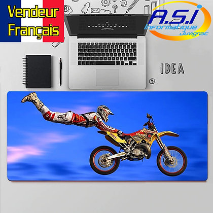 Grand Tapis de souris Motard Biker Moto Motocross Biker XXL