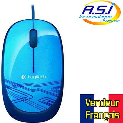 Souris Logitech à fil USB M105 Bleu VENDEUR FRANÇAIS