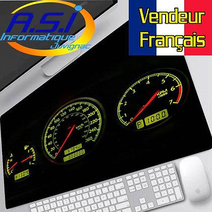Grand Tapis de souris Gaming compteur voiture tableau de bord auto XL VENDEUR FR