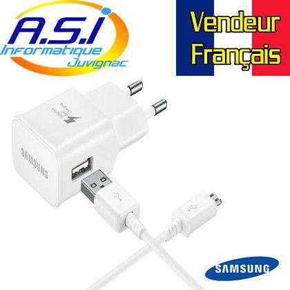Chargeur Téléphone Smartphone Micro-USB Samsung 5v 2A VENDEUR FRANCAIS