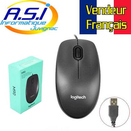 Souris Logitech Noire M90 à Fil USB VENDEUR FRANCAIS