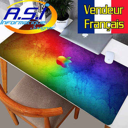Tapis de souris Gaming Pomme XXL Grand Format multicolore gamer VENDEUR FR
