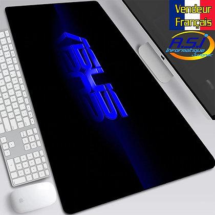 Grand Tapis de souris XL Asus Noir et bleu Gamer Gaming Joueur Jeu PC Mac