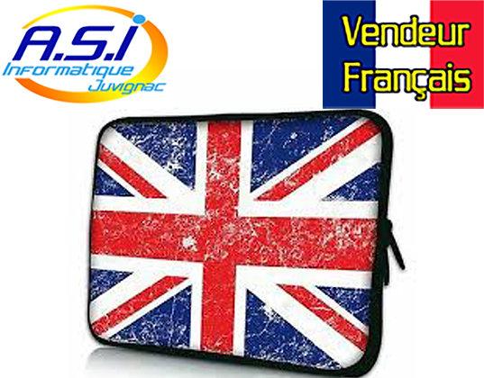 """Housse drapeau Angais ordinateur PC portable Apple MacBook 17"""" VENDEUR FRANÇAIS"""