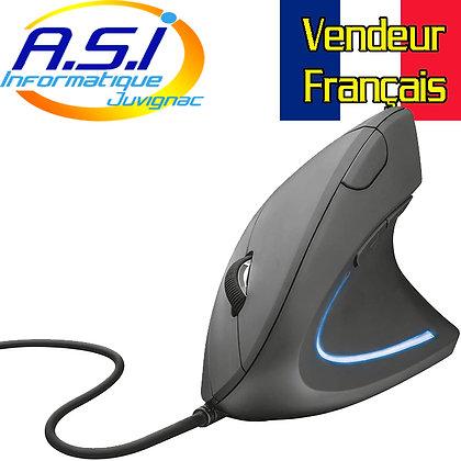 Trust Verto Souris filaire, Verticale, Ergonomique USB