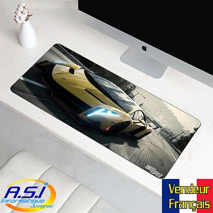 Grand Tapis souris Joueur ordinateur Gaming Voiture auto Jaune lamborghini