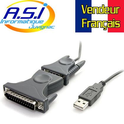 StarTech Câble adaptateur USB vers port série DB9 - DB25 Vendeur FRANCAIS