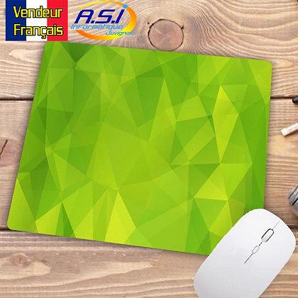 Tapis de souris Ordinateur Forme géometrique graphique Triangle Losange Vert