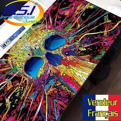 Grand Tapis de souris Gaming jeu Gamer XL Tête de mort multicolore VENDEUR FR
