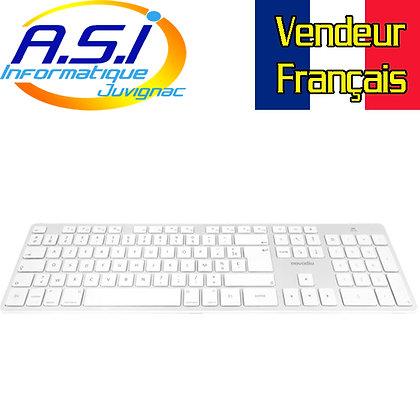 Clavier USB AZERTY pour Mac APPLE Novodio Blanc