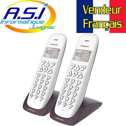 Téléphone fixe duo sans fil Logicom compatible toutes box