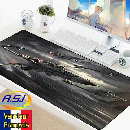 Grand Tapis de souris Gaming gamer Jeu joueur Star Wars Vaisseau Luc X-Wing