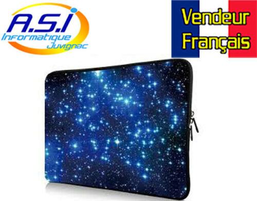 """Housse sacoche galaxie ordinateur PC portable Apple MacBook 17"""" VENDEUR FRANÇAIS"""
