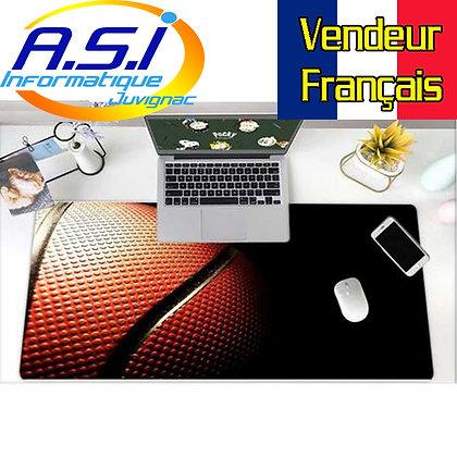 Grand Tapis de souris Gamer Jeu ordinateur Ballon Basket  Gaming XL