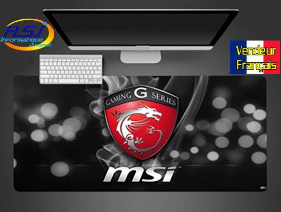 Grand Tapis de souris Gamer ordinateur MSI Gaming serie G XL