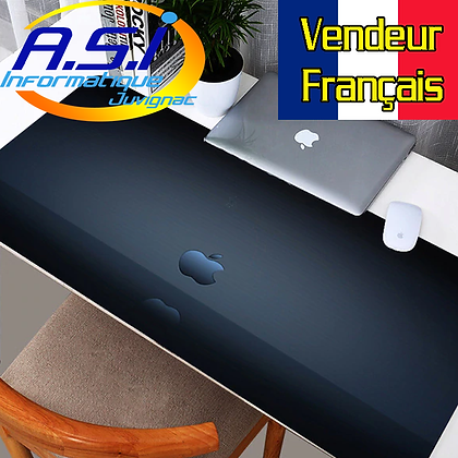 Tapis de souris Gaming Pomme XXL Grand Format bleu Noir gamer VENDEUR FR