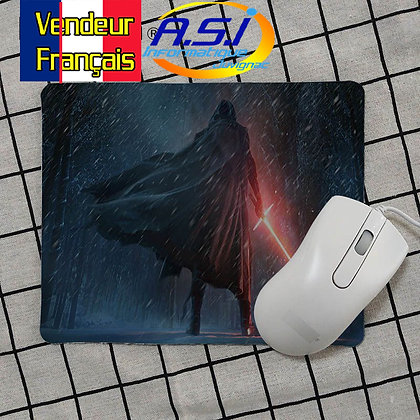 Tapis de souris Gaming gamer Star Wars Kylo Ren Starwars Sabre Laser de dos