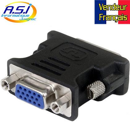 Adaptateur DVI-I mâle vers VGA Femelle pour Ordinateur PC VENDEUR FRANÇAIS