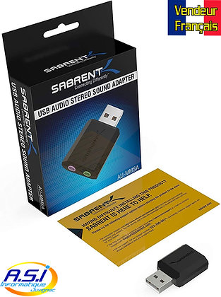 Carte son Externe USB Casque, Micro