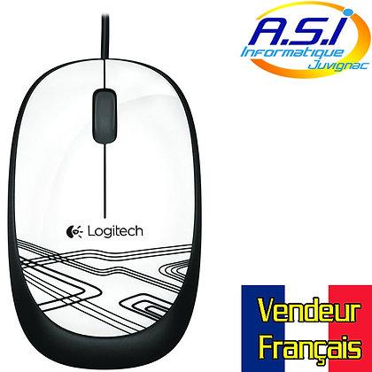 Souris Logitech à fil USB M105 Blanc (blanche) et noir (noire) VENDEUR FRANÇAIS