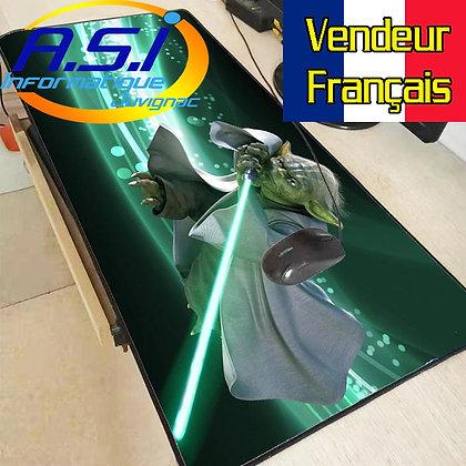 Grand Tapis de souris Gaming gamer Jeu joueur Star Wars Yoda XL VENDEUR FRANÇAIS