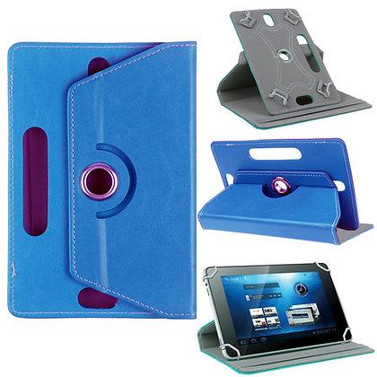 Coque Etui universel Housse universelle tablette 10 pouces Effet cuir Bleu ciel